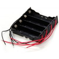 4 Slot Button Battery Holder Protection Box for 18650  -  BLACK