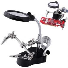 Third Hand Soldering Stand with Magnifying Glass