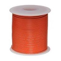 20 AWG Stranded Hook Up Wire- Orange- 1 Meter