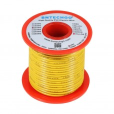 20 AWG Stranded Hook Up Wire- Yellow - 1 Meter