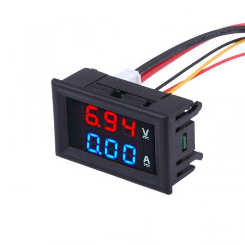 In Dash Digital Voltmeters : Dc v a digital voltmeter ammeter dual display