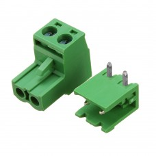 Terminal Block Plugabble - 2 pin Right Angle