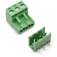 Terminal Block Plugabble - 3 pin Right Angle
