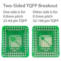 TQFP SMD Breakout for 0.8mm pitch and 0.5mm pitch