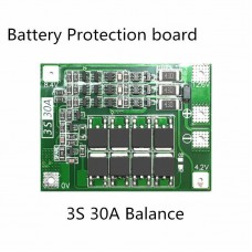 BMS Board 3S 30A Balanced Version 11.1V 12.6V