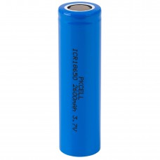 Lithium Ion Cylindrical Battery 3.7V - 18650 Cell 2600mAh Unprotected