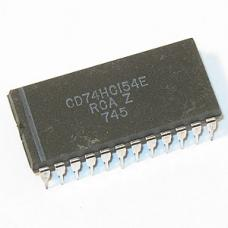 CD74HC154E  LOGIC, 4-TO-16 DECODER/DEMUX, 24DIP