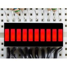 10 Segment Light Bar Graph LED Display - Red