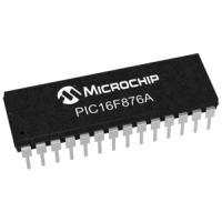 PIC16F876A-I/SP Microcontroller, 28 DIP, 20 MHz