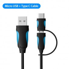 MicroUSB / Type C to USB Cable - 50cm