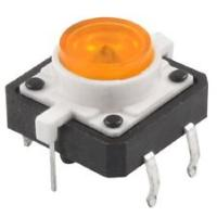 Tactile Push Button with Yellow Led