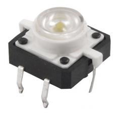 Tactile Push Button with White Led