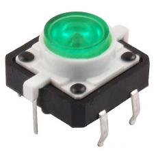 Tactile Push Button with Green Led