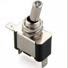 Blue SPST Led 12V 20A Metal Toggle Switch