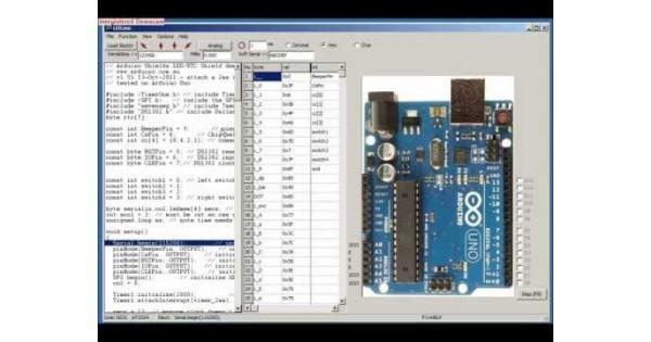 Simulator for arduino pro version