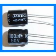 Capacitor 100uF 50V Radial Electrolytic