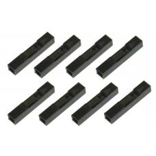 "Crimp Connector Housing: 1x1-Pin 25-Pack 0.1"" (2.54mm)"