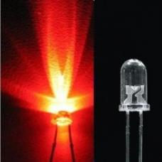 LED 5mm RED WATER CLEAR ULTRA BRIGHT